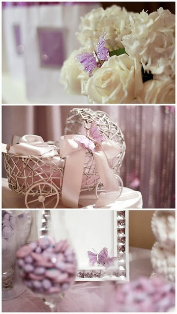 Can someone have a baby girl so I can decorate a shower like this!  Butterfly Baby Shower