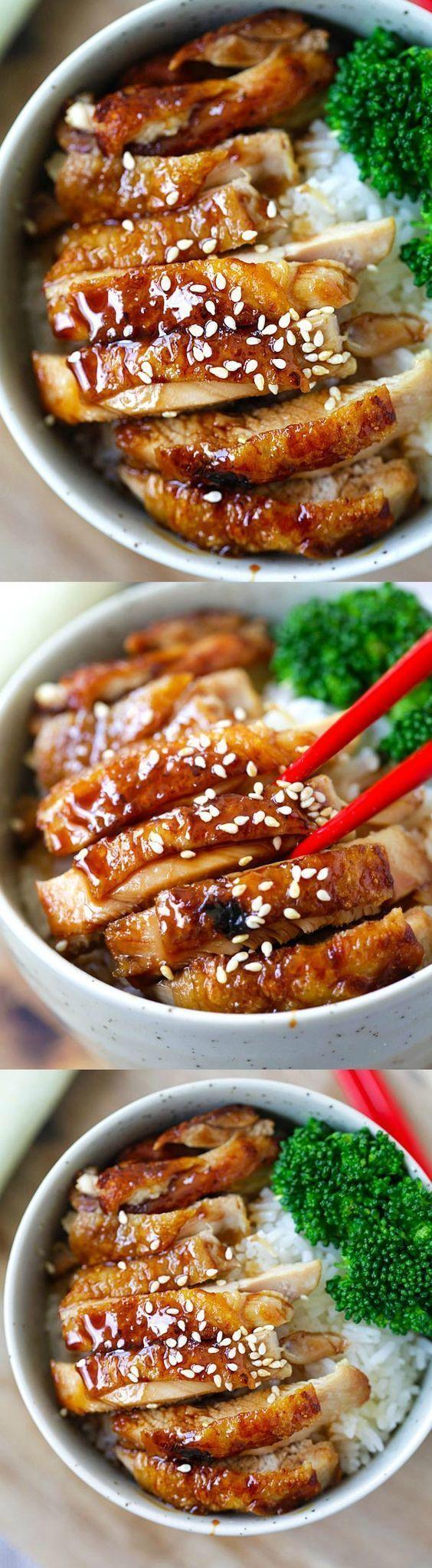How to make chicken teriyaki – EASY recipe for teriyaki sauce plus chicken teriyaki that tastes like Japanese restaurants   http://rasamalaysia.com