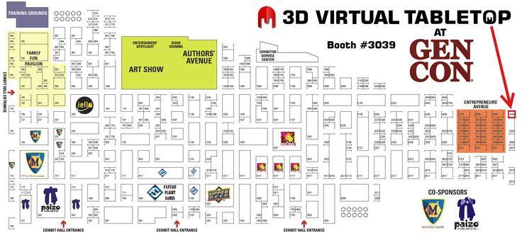 3D Virtual Tabletop at Gen Con 2015 at booth #3039