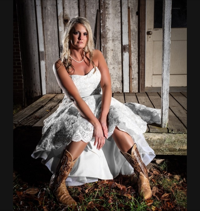Rustic Cowboy Boots Wedding Dress Fall Wedding At