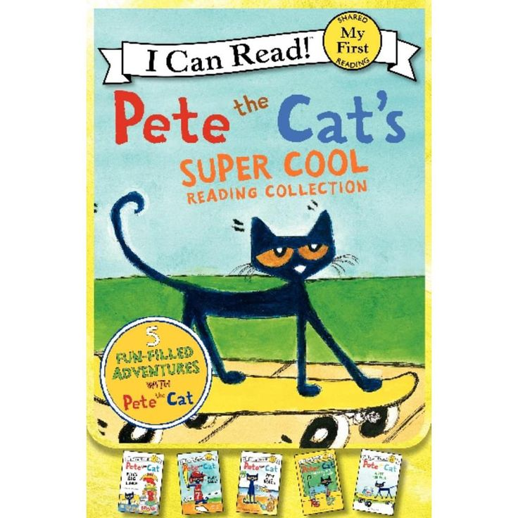 This super cool paperback beginning reader collection includes five of the grooviest stories from the Pete the Cat I Can Read series by New York Times bestselling artist James Dean: Pete the Cat: Play Ball!, Pete the Cat: Pete's Big Lunch, Pete the Cat: Pete at the Beach, Pete the Cat: A Pet for Pete, and Pete the Cat: Too Cool for School. This set of Pete the Cat books is all My First I Can Read Books, which means they are perfect for shared reading with a child. Fans of Pete the Cat will…