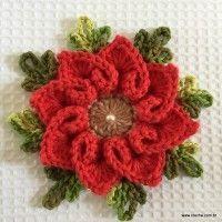Flor coração  - great photo tutorial