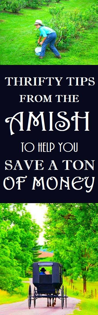 Amish Thrifty Tips #amish #thrifty #money #frugal #frugalliving