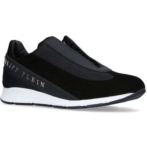 Philipp Plein Panelled The Years Runner Sneakers (2 410 PLN) ❤ liked on Polyvore featuring shoes, sneakers, philipp plein shoes, philipp plein, philipp plein trainers and philipp plein sneakers