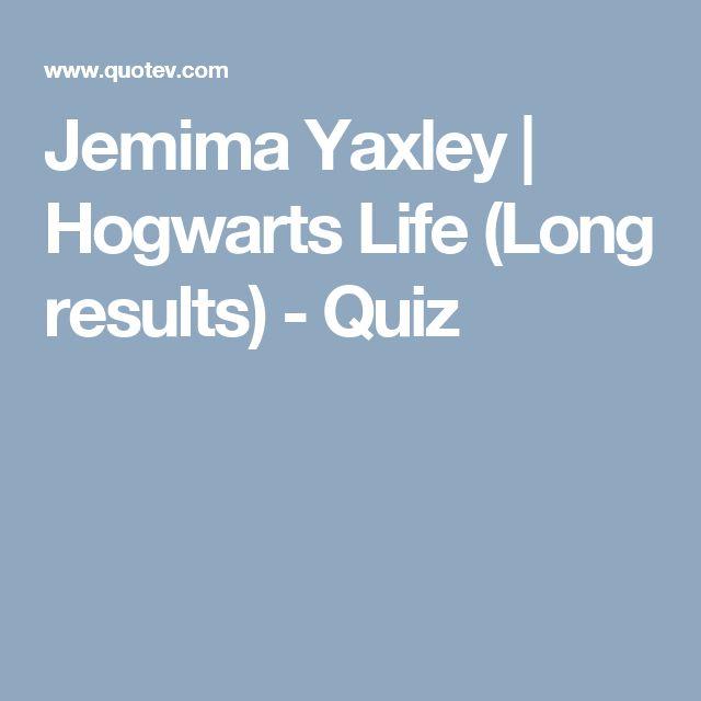 Jemima Yaxley | Hogwarts Life (Long results) - Quiz