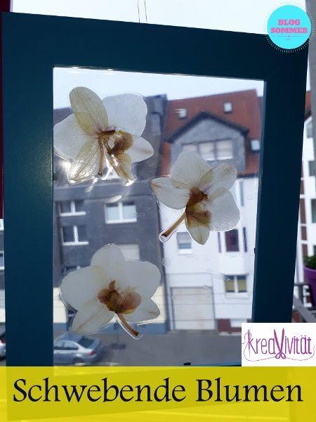 Schwebende Blumen im Rahmen DIY
