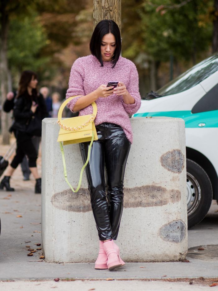 c3ee69a15ea 12 Outfits That ll Convince You to Swap Skinny Jeans for Vinyl Pants via   WhoWhatWearUK