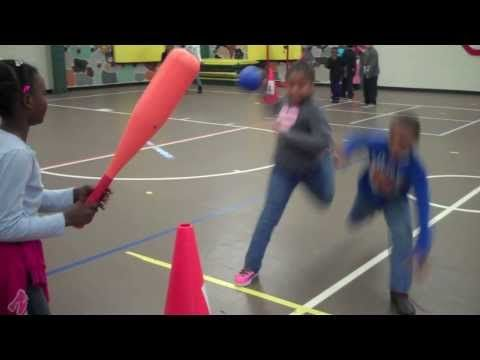 Batter Up  (PE Striking From A Tee Game @ West Newton)