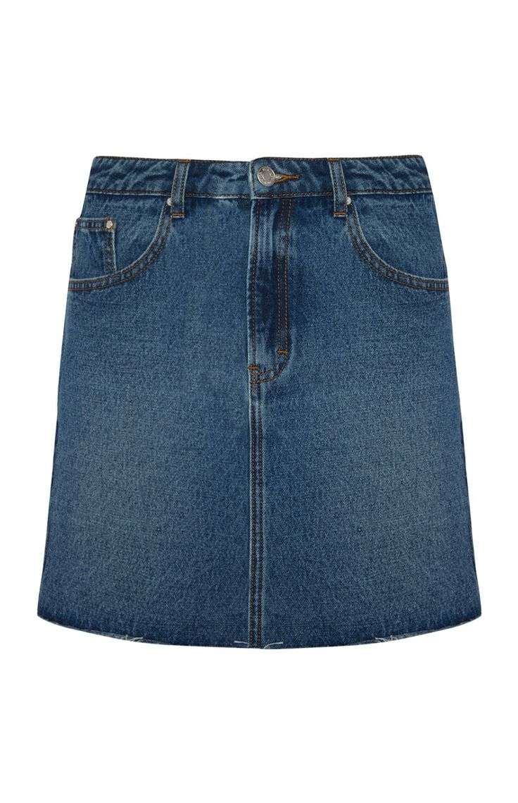 Mid Blue Denim Skirt