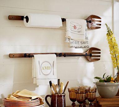 Cuisine Fork Kitchen Roll Organizer \ Pottery Barn