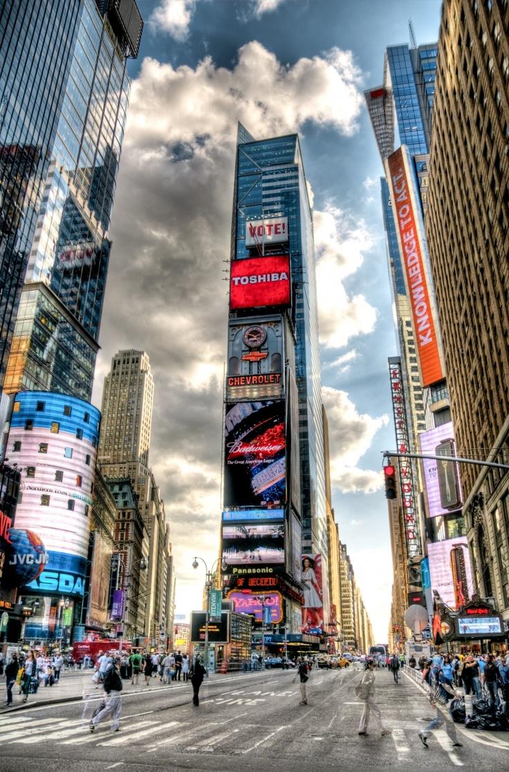 new york city  u2013 times square  u2013 hdr