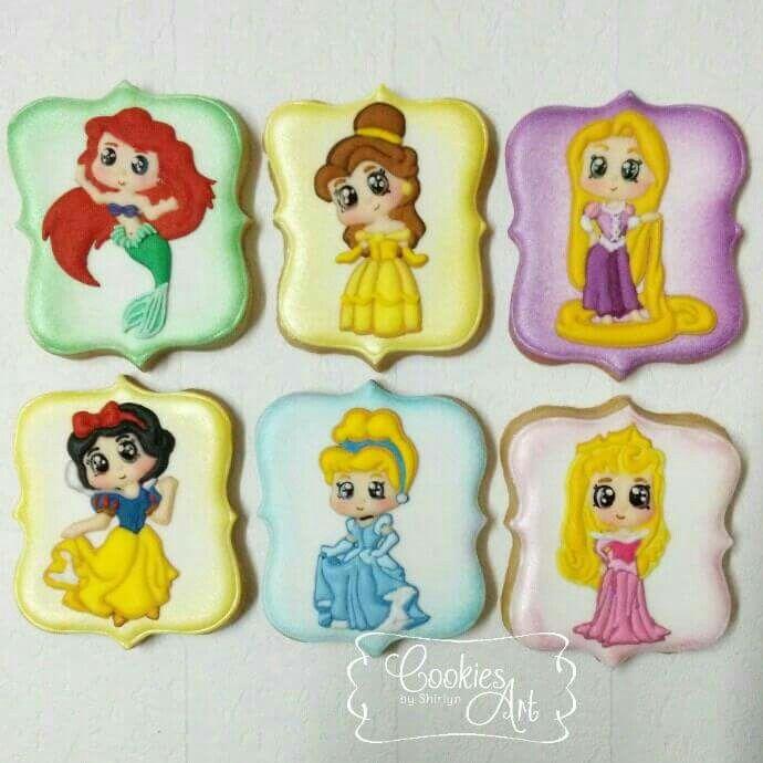 Disney Princesses Chibis Cookies