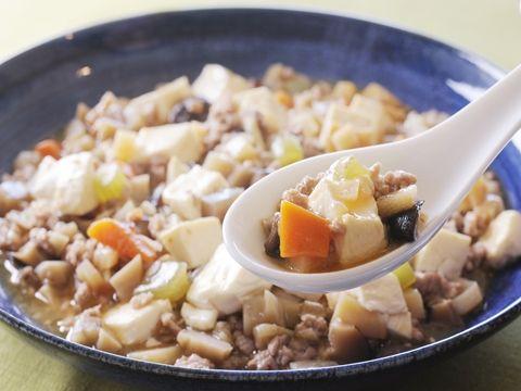 根菜たっぷり麻婆豆腐  https://recipe.yamasa.com/recipes/1601