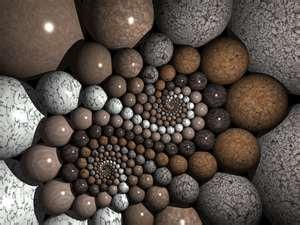 Spiral Art Stone (podría hacerse con bolas de corcho)