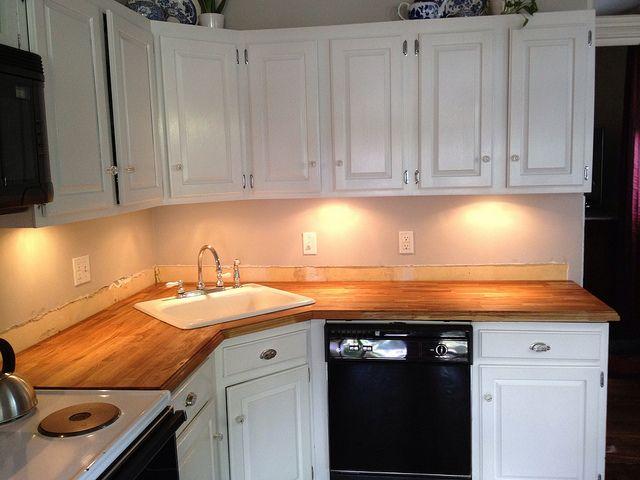 stick a fork in them the ikea butcher block counters are done corner kitchen sinkscorner - Corner Kitchen Sink
