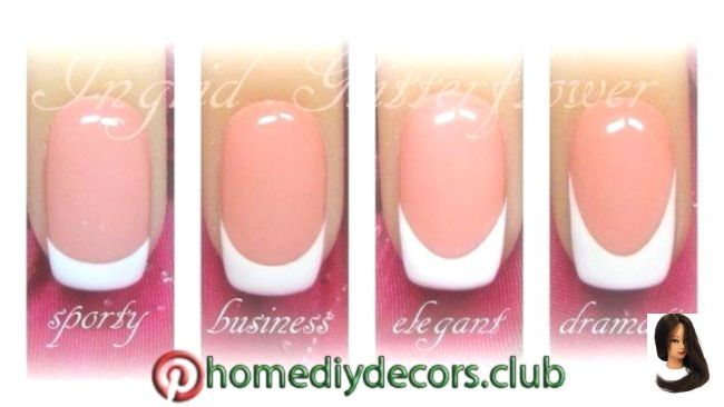 4 Ways To Do A French Manicure At Home 4 Ways To Do A French Manicure At Home Manicure Trendy Nails French Manicures Diy