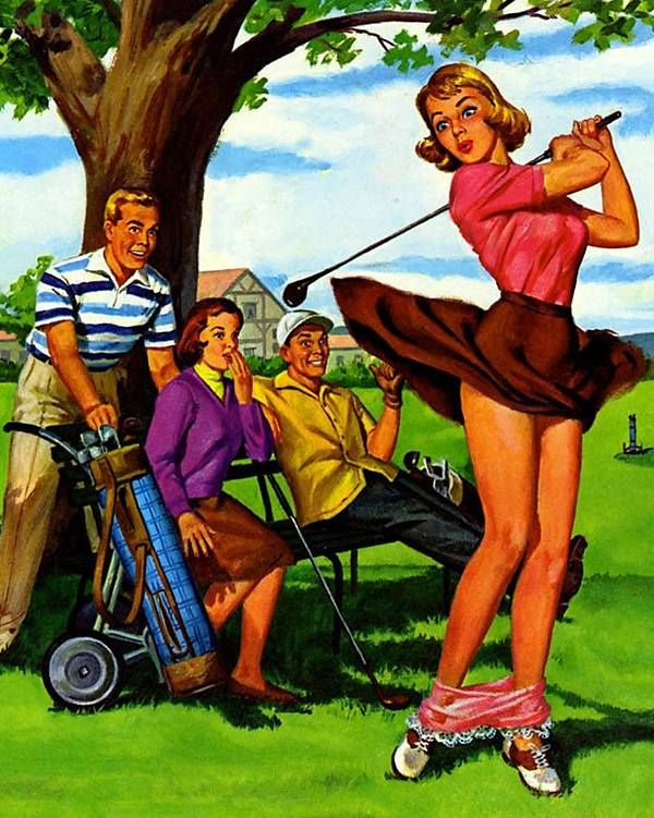 Golf | Art Frahm Pin-Up artist | Ladies in distress #Pin-Ups #Ladies #Distress #deFharo #Vintage #Posters #Girls