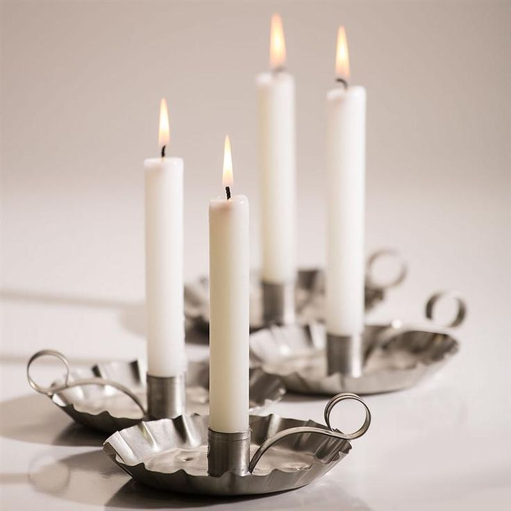 """6"""" White Dripless Candles"""