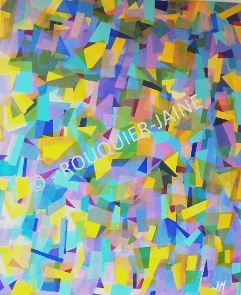 25 best images about peinture on pinterest artworks for Peinture geometrique contemporaine