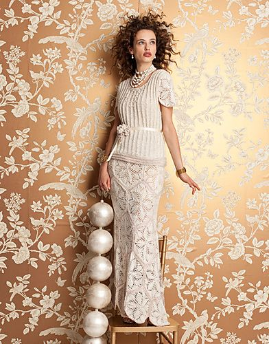 #01 Wedding Dress by Nicky EpsteinWedding Dressses, Vogue Knitting, Nicki Epstein, Knits Fall, Knits Magazines, Fall 2012, Wedding Dresses Pattern, Libraries Wedding, Vogue Knits