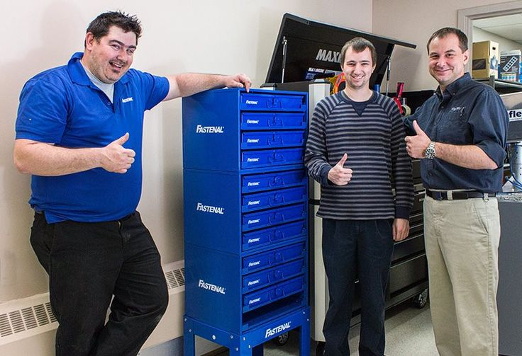New parts cabinet for WipWare. Thanks to Chris and all the folk at Canada Fastenal in North Bay! #Fastenal #WipWare #tools #diy #parts #mechanical