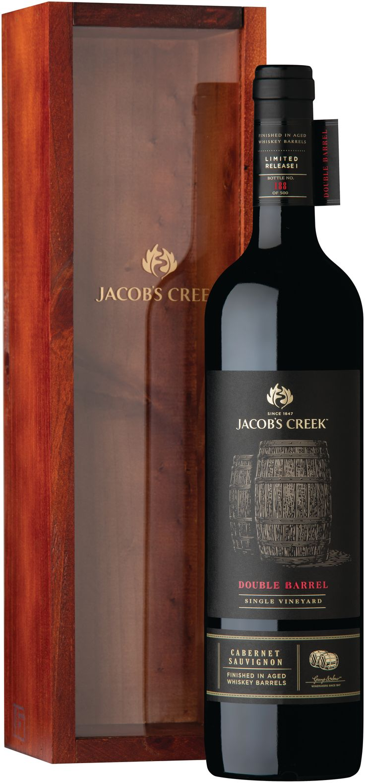 Australian wine brand JACOB'S CREEK™ launces two new limited releases exclusive to Pacific Travel Retail - JACOB'S CREEK Double Barrel Single Vineyard Shiraz and Cabernet Sauvignon