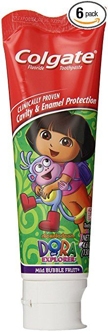 Colgate Dora The Explorer Fluoride Toothpaste, Mild Bubble Fruit Flavor, 4.6 Ounce (Pack of 6) Review