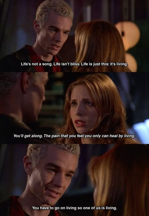 my other favourite quote from the episode :) - also adore the little smile on Spike's face when he says 'so one of us is living' ...sigh <3