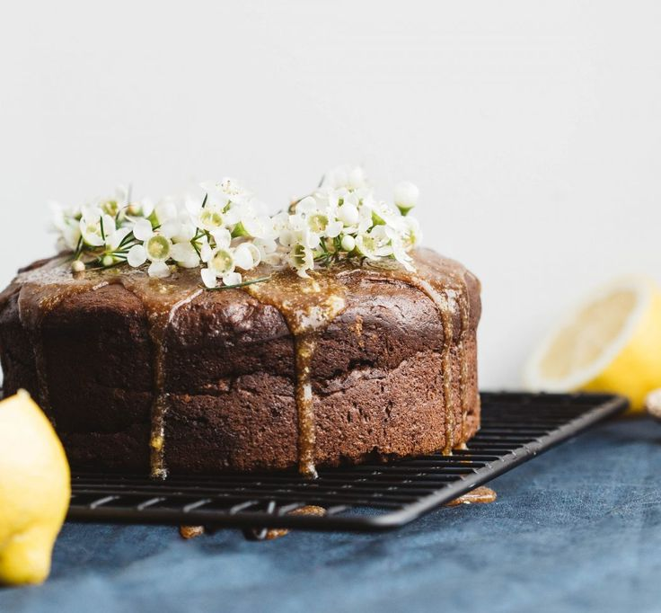 The Greenhouse Cookbook Sticky Ginger Cake with Lemon Sauce | Deliciously Ella