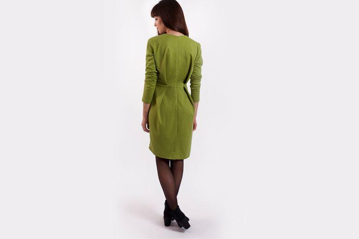 Green Maxi Dress, Green Wedding, Summer Dresses, Long Sleeve Dress, Party Dress, Cocktail Dress, Fitted Dress, Minimal Dress, Green Dress by ToniAndStassy on Etsy https://www.etsy.com/listing/217277462/green-maxi-dress-green-wedding-summer