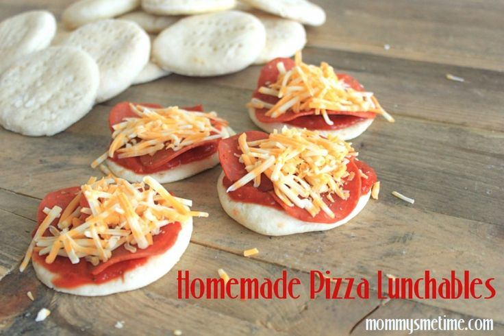 Homemade Pizza Lunchables {Mommy's Me Time Blog}