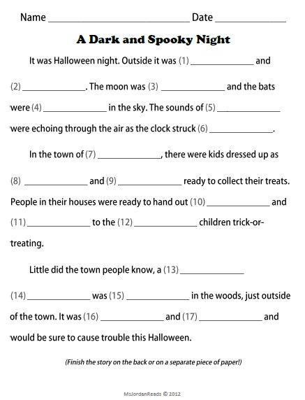best halloween stories ideas halloween snacks celebrate halloween all week fill in a story writing