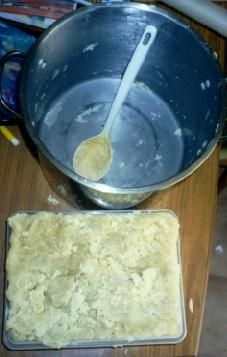Soap making -- Another great tutorial with pics of each step.
