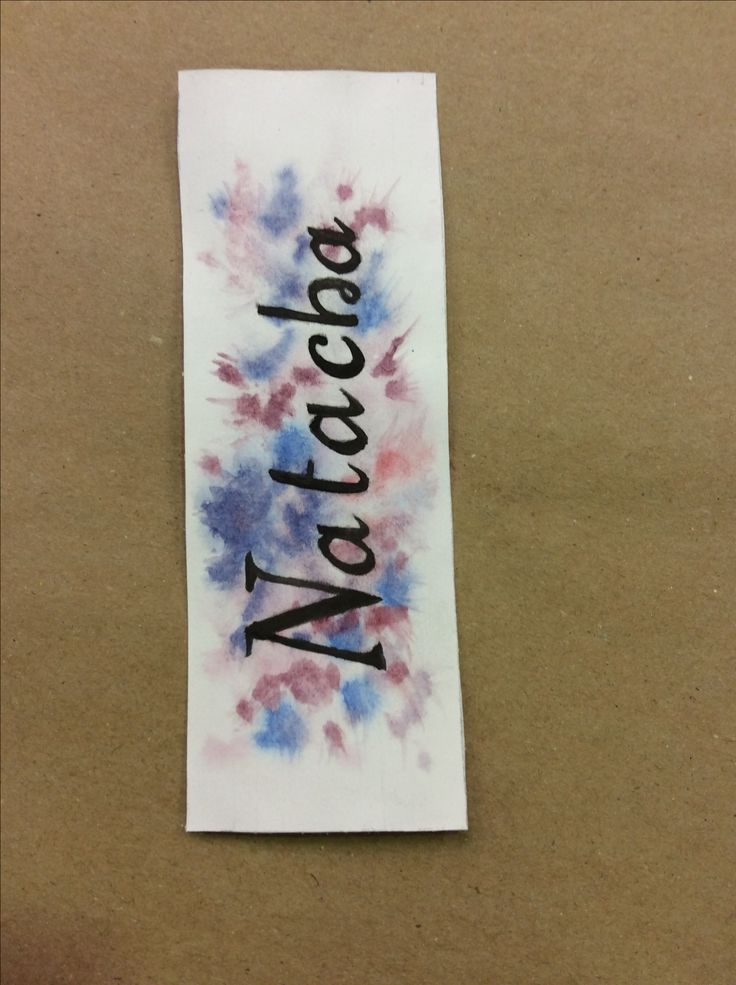 Watercolor bookmark; drawing by ArtWolf
