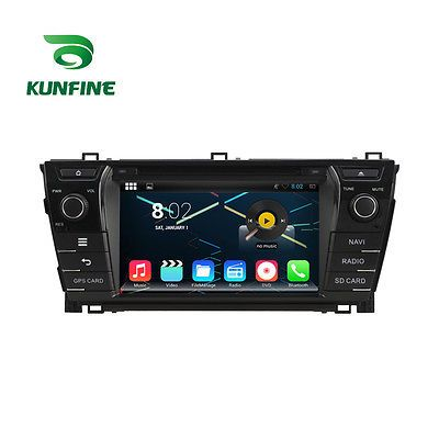 Price - $417.00.ㅤㅤㅤ                Android 7.1 Quad Core Car DVD Player GPS Sat Navi Stereo for Toyota Corolla 2014