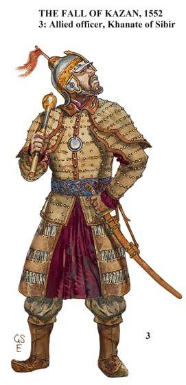 Siberian Khanate officer, Siege of Kazan (1552)