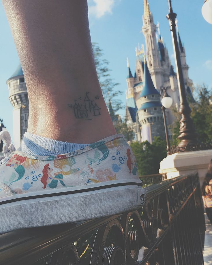 Small Disney Castle Tattoo, Disney tattto, small Disney tattoo, Disney castle tattoo