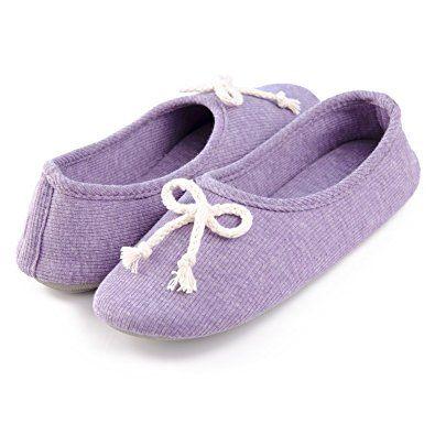 Moxo Women S Memory Foam Bedroom Ballerina House Slippers Review