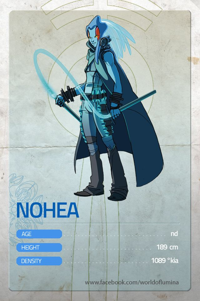 "This week's hero: NOHEA. (English and French follow)  Nohea è membro di alto grado del popolo degli ""abissali""...   (ENG) Nohea is a high rank member of the ""abysmals""...  (FRA) Nohea est un membre d'haut rang des ""abyssaux""...  #MondayHero #WorldOfLumina"