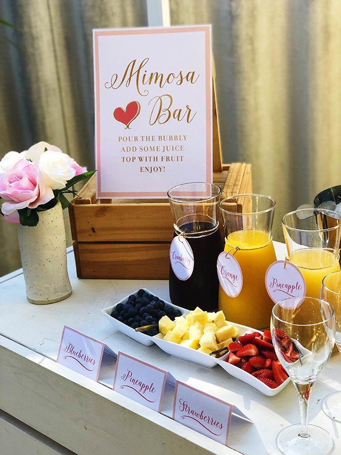 Birthday Brunch Mimosa Bar Mimosa Bar Free Printables Just Add Confetti Just Add Confetti Free Printa Brunch Party Decorations Birthday Brunch Brunch Decor