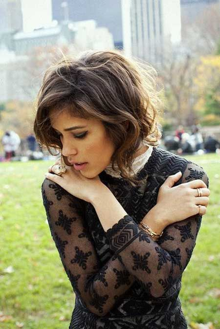 The Best 20 Short Wavy Hairstyles | http://www.short-haircut.com/the-best-20-short-wavy-hairstyles.html