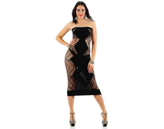 Damen Erotisches Gogo Kleid Dress Reizwäsche Party Clubwear Dessous ...