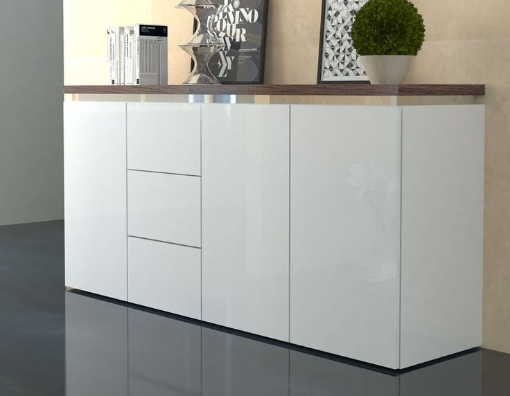 les 25 meilleures id es de la cat gorie buffet blanc laqu. Black Bedroom Furniture Sets. Home Design Ideas