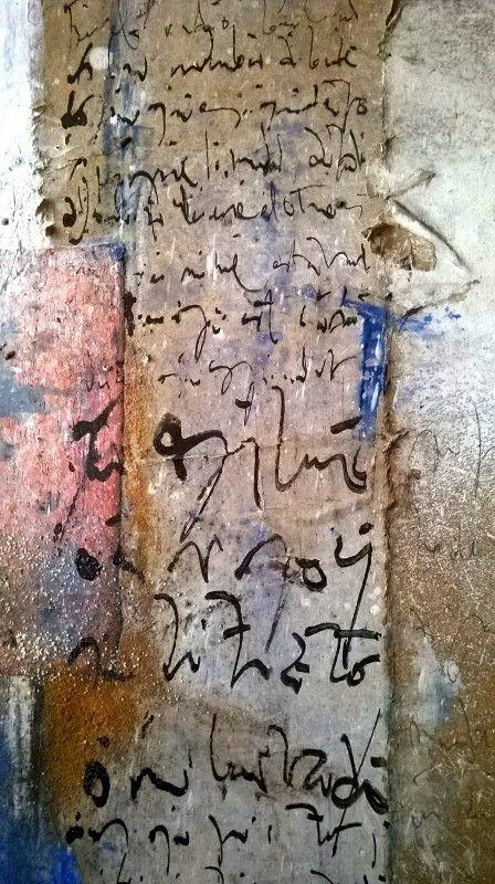Fragment de toile de Mehdi Bourkia. Photo Justine Lenoir.