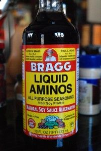 Replace soy sauce in recipes with BRAGG LIQUID AMINOS, this stuff seriously tastes exactly the same with 80% or more less sodium than regular soy sauce, not to mention this contains NO GMOS!!  #GlutenFree #Braggs