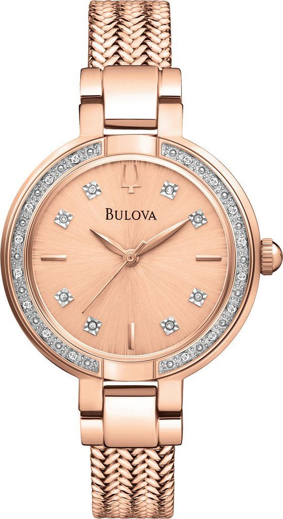 @bulova Watch Diamond #2015-2016-sale #bezel-diamond #black-friday-special #bracelet-strap-gold #brand-bulova #bulova-core-line #case-material-rose-gold #delivery-timescale-4-7-days #dial-colour-gold #fashion #gender-ladies #movement-quartz-battery #official-stockist-for-bulova-watches #packaging-bulova-watch-packaging #sale-item-yes #style-dress #subcat-aracena #supplier-model-no-98r179 #vip-exclusive #warranty-bulova-official-3-year-guarantee #water-resistant-30m