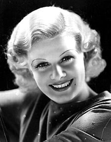 Jean Harlow (born Harlean Harlow Carpenter; March 3, 1911 – June 7, 1937) was an American film actress and sex symbol of the 1930s. Jean suffered from scarlet fever at the age 15 in 1926. This may have contributed to her untimely death from kidney disease on June 7, 1937 at the age of 26. Her funeral was an extravaganza held at the Forest Lawn Memorial Park. Clark Gable, Jeanette MacDonald, and Nelson Eddy sang at the ceremony
