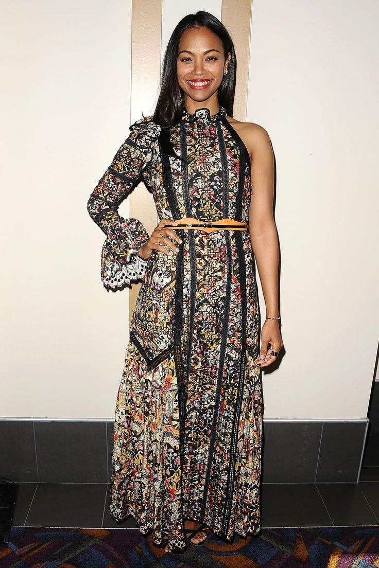 Zoe Saldana  in Louis Vuitton HarpersBAZAAR.com