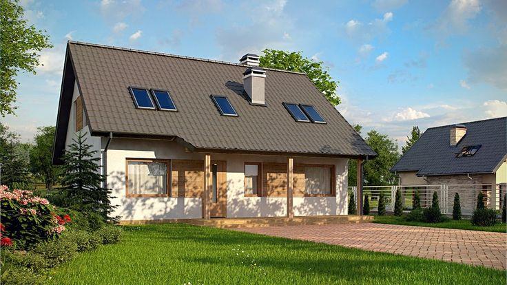 Projekt domu SZ5 Z66 D zp - DOM OZ6-02 - gotowy projekt domu