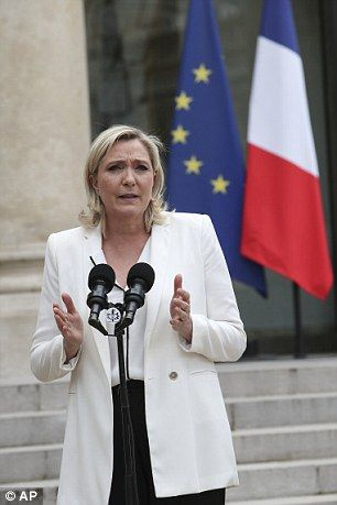 Hollande's administration has dismissed Le Pen's (pictured) call, but the National Front leader is more popular in opinion polls